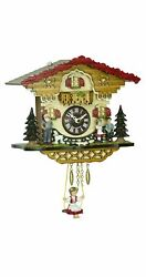 Kuckulino Black Forest Clock Black Forest House with quartz mov.. TU 2063 SQ NEW