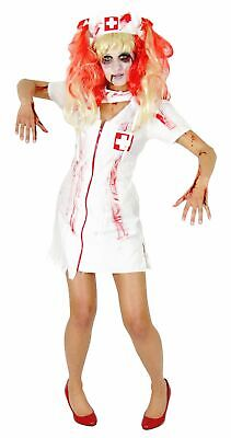 Zombie Krankenschwester Kostüm für Damen und Mädchen Halloween Zombiekostüm