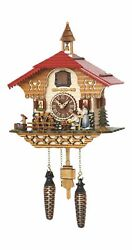 Quartz Cuckoo Clock Black Forest house with moving beer drinker.. TU 4215 QM NEW