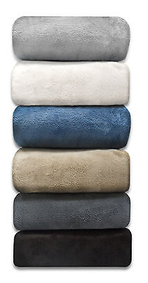 luxury queen full grey micro plush blanket