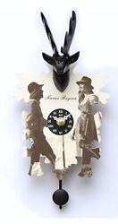Kuckulino Black Forest Clock with quartz movement and cuckoo ch.. TU 3011 PQ NEW