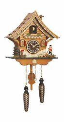 Quartz Cuckoo Clock Swiss house with music TU 4204 QM NEW