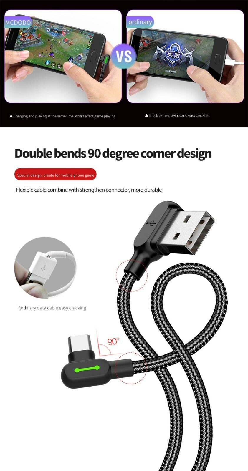 Samsung USB-C Type C Fast Charging Cable Galaxy Note 10 S8 S9 S10 Plus Note 8 9 - $8.99