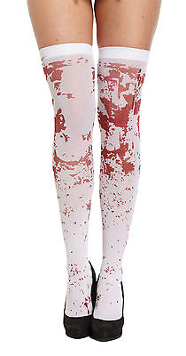 Job Lot 9 x HALLOWEEN WHITE BLOOD STAINED BLOODY STOCKINGS TREAT TREAT DRESSUP ](Corpse Bride Dress Up Halloween)