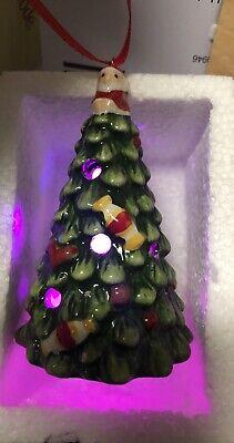 CHRISTMAS TREE LED LIGHT UP ORNAMENT CERAMIC SPODE