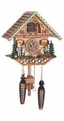 Quartz Cuckoo Clock Swiss house with music TU 489 QM NEW