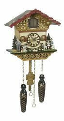 Quartz Cuckoo Clock Swiss house with music TU 4228 QM NEW