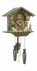 Quartz Cuckoo Clock Swiss house, with music TU 423 QM NEW