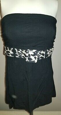 Belted Tube Top (Express black belted tube top size Medium)