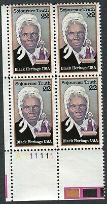 GREAT AMERICAN ABOLITIONIST SOJOURNER TRUTH - Scott 2203 U.S 22c 1986 MNH 616a  - $3.80
