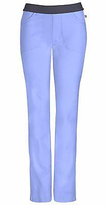 Ciel Blue Cherokee Scrubs Infinity Low Rise Slim Pull On Pants 1124A CIPS ()