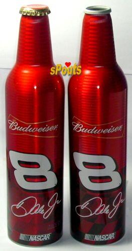 NASCAR BUD #8 Dale Earnhardt JR ALUMINUM BEER BOTTLE-CANS BUDWEISER 2 VARIATIONS