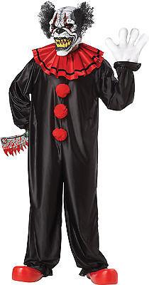 HALLOWEEN ADULT EVIL LAST LAUGH CLOWN COSTUME MASK PROP - Last Laugh Clown Costume