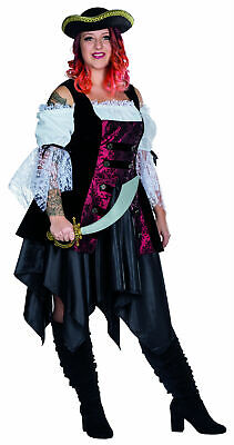 Kostüm Piratin große Größen Seeräuberin Gr.48-56 Piratinkostüm Karneval Fasching