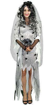Sexy Zombie Geister Braut Kostüm für Damen Brautkleid - Schwarz Halloween Kostüme Für Damen