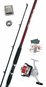 Shakespeare Omni 10 ft Rod & Reel  Mackerel Sea Fishing Starter Kit