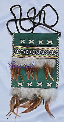 Einfache Indianer   Umhängetasche Wildleder ---