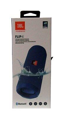 JBL Flip 4 Waterproof Portable Bluetooth Speaker Blue - Sealed NEW *FLIP4BLU