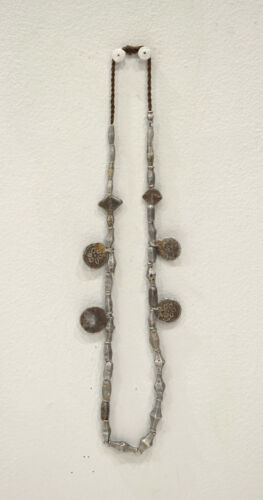 Burmaese Necklace Pressed Aluminum Beads Coins Alika Burmases Necklace