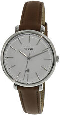 Fossil Women's Jacqueline ES4368 Silver Leather Japanese Quartz Fashion Watch