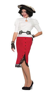 1940'S Bleistiftrock Rot Damen Pop Art Buchse Kostüm - Halloween Kostüme 1940