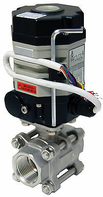 1 Electric Actuated Ball Valve 110 Vac Stainless Steel-new