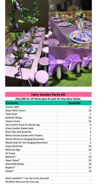 Fairy Garden Party Hire - The Party Kit | Party Hire | Gumtree