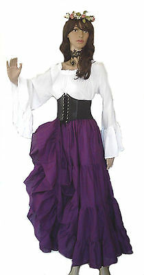 Renaissance Steampunk Pirate Wench Victorian Underbust Corset COSPLAY 8 COLORS](Renaissance Pirate Costumes)