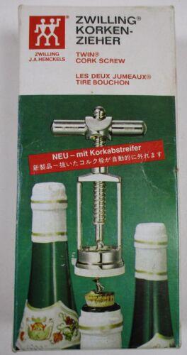 Zwilling J.A.Henkels Vintage German Korken-Zieher Cork Screw in Box