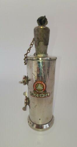 Vintage Chrome The Lenk Mfg Company Newton Mass Alcohol Burner