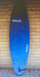 soft surfboard and surfboard rack for car in good condition