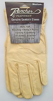 One (1) Pair RANCHER by Plainsman Cabretta Goatskin Leather Gloves MEDIUM New
