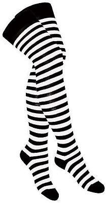 - schwarz weiß gestreift Zebra SOC 001 (Schwarz Weiß Gestreifte Strümpfe)