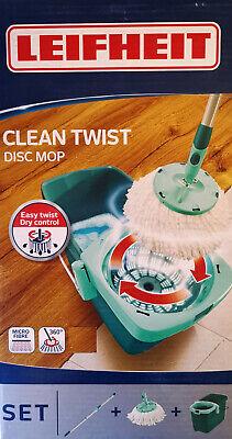 Leifheit 52019-7 Clean Twist System DISC MOP Set 360°