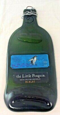 The Little Penguin - Flattened Merlot Wine Bottle Wall Decoration