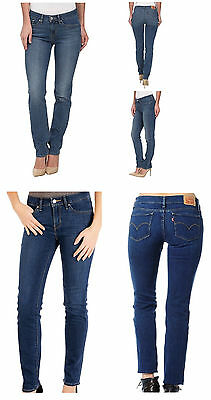 Levis Womens 712 Slim Fit Mid Rise Stretch Denim Jeans