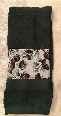 Pine Cones Towel - Great home Lodge Decor- Great Holiday gift for Maine resident Pinecone Lodge Bath Towel