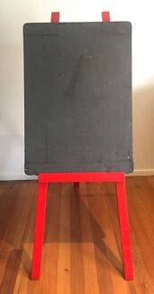 Original 1940 Shabby Vintage Chic Chalk Board Painted Red