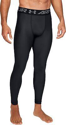 Under Armour HeatGear 2.0 Mens Compression Tights Black Gym Running Training UA