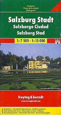 Map of Salzburg, Austria, by Freytag & Berndt