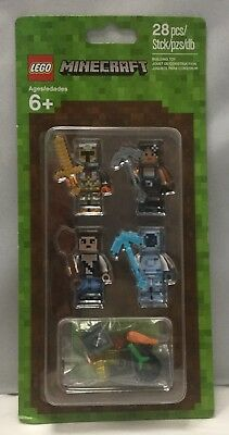New Lego Minecraft Skin Pack 2 Set Lot Minifigures Accessories 853610 Sealed