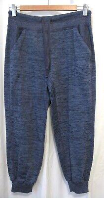 190704 Women's S ATHLETA 438844 Blue Space Dye Cropped Capri Knit Pants EUC