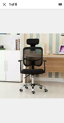 Ergonomic Mesh Office Chair With Lumbar Support Headrest New Open Box