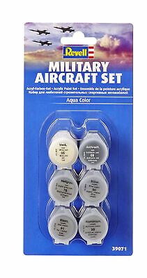Model Building Paint Set Revell Military Aircraft 6 Colours
