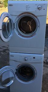 "Whirlpool 24""W apartment size washer dryer front load stackable"