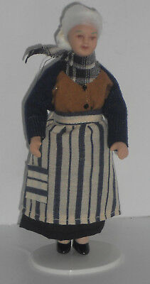 Puppe, Oma Mrs. Kirsten, Maßstab 1:12, Miniatur f.d. Puppenstube/Puppenhaus #15#