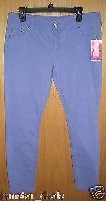 Candies Juniors Cropped Color Jeans Light Purple Size 13 Lilac Color So Cute