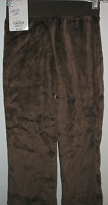 Total Girl - - Brown Velour Pull On Pants- Small ( 4 )
