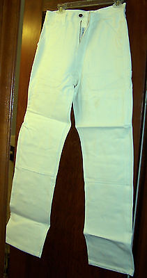 Caboose Men's Painter Pants - White W/tool Loop & Extra Pockets -