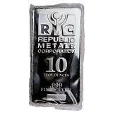 Daily Deal! Republic Metals Corp. 10 Troy oz .999 Fine Silver Bar SKU31524